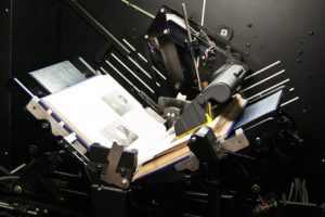 picture of a book scanning machine