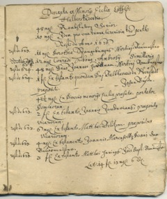 Image with excerpts from monastery registers, written 1780/81