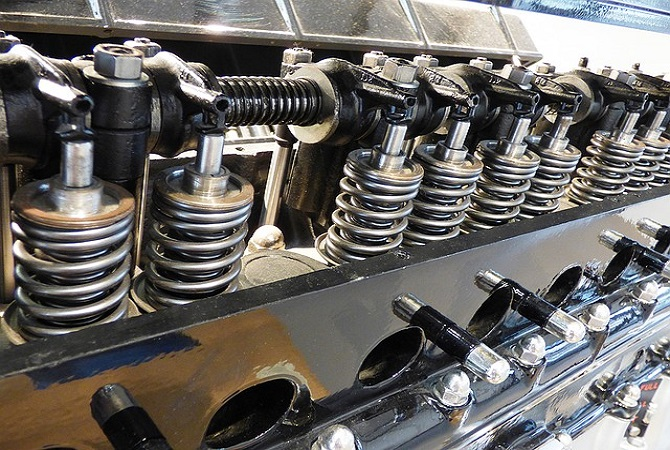 engine cylinders, polished