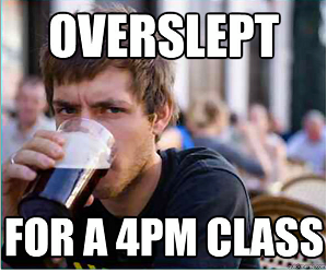 Oversletp
