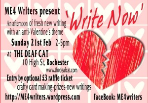 ME4 Writers Anti-Valentines flier
